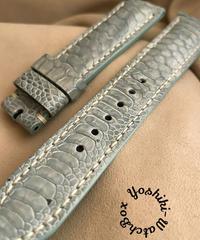 チキン レザー 腕時計ベルト ライトブルー (ラグ幅20mm - バックル幅18mm) chi-23
