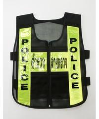 タイ警察メッシュビブス 黒/イエロー タイプB