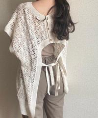 2way openwork knit vest  ivory