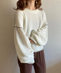 openwork stitch knit ivory