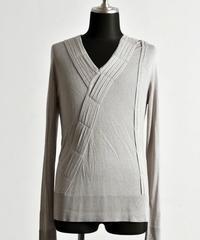 Bennu (ヴェンヌ) 110320107 / RT Silk Knit loop tack V-PO-BEIGE