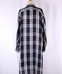 Bennu(ヴェンヌ)  120730403  / Check short color long Shirts