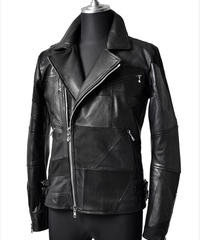 Bennu(ヴェンヌ)  320050901 / Patchwork Leather Double Rider's Jacket