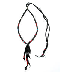 BLACK HONEY CHILI COOKIE (ブラックハニーチリクッキー) 2902713 / Peacock Feather Beads Necklace - BLACK