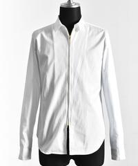 Bennu (ヴェンヌ)110330404 / 100'S Broad short color zip Shirt-WHITE