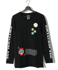 SWITCHBLADE (スウィッチブレード)1001105 / PATCHES L/S TEE-BLACK