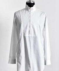 Bennu (ヴェンヌ)110330405 / 100'S Broad Stand Collar Zip Long Shirt-WHITE
