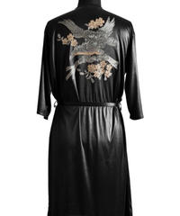 Bennu (ヴェンヌ) 110310311 / Embroidered Long Gown-BLACK