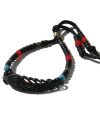 BLACK HONEY CHILI COOKIE (ブラックハニーチリクッキー) 2902712 / Peacock Feather Beads Bracelet - BLACK
