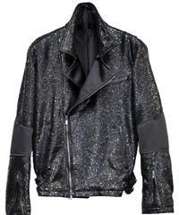 ys Yuji SUGENO (イース ユウジ スゲノ) 210830904 / Black Foil Tweed Double Riders Jacket