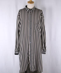 Bennu(ヴェンヌ)  120730404  / Stripe Desine Big Long Shirts