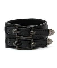 BLACK HONEY CHILI COOKIE (ブラックハニーチリクッキー) 2902715 / Skull Buckle Leather Bracelet - BLACK