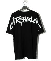 SWITCHBLADE (スウィッチブレード)1001104 / SPRAY LOGO TEE (五分袖)-BLACK