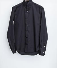 Bennu (ヴェンヌ)110330403 / 100'S Broad Stand Collar Dress Shirt-BLACK