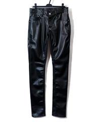 ys Yuji SUGENO (イース ユウジ スゲノ) 210340507-BLACK / Synthetic Lamb Leather Skinny pants