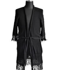 Bennu (ヴェンヌ)110320301/ Cotton Change Jacquard Frenzy Long Gown-BLACK