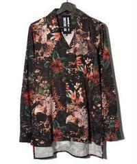 SWITCHBLADE (スウィッチブレード) 1801203 / EAGLE FLOWER SHIRT - BLACK