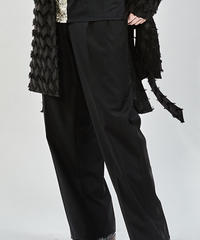 ys Yuji SUGENO (イース ユウジ スゲノ)  210330503-BLACK / Tuxedo cross 2tuck Easy Trousers