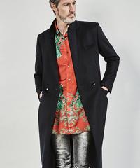 ys Yuji SUGENO (イース ユウジ スゲノ) 210331107-BLACK / Cashmere wool semi-double long coat