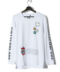SWITCHBLADE (スウィッチブレード)1001105 / PATCHES L/S TEE-WHITE