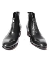 Bennu(ヴェンヌ)  110254204  /  Front zip Heel Boots-BLACK ZIP