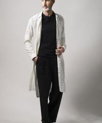 Bennu(ヴェンヌ)  110630404  / Embroidered Regular Collar Long Shirt