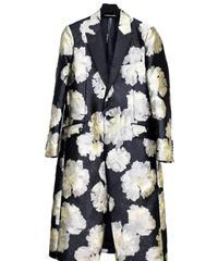 ys Yuji SUGENO (イース ユウジ スゲノ) 210831101 / Gold Flower Jacquard Chester Coat