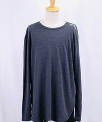 Bennu(ヴェンヌ)  120710108 / BT Logo   Hem Step Round Long sleeveTee