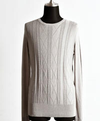 Bennu (ヴェンヌ)110320108 / RT Silk jacquard Knit CN-PO-BEIGE