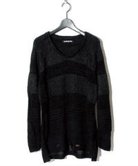 BLACK HONEY CHILI COOKIE (ブラックハニーチリクッキー) 2902501 / Border Knit - BLACK