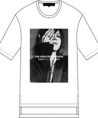 "FIFTY FIFTY (フィフティフィフティ)220110102 / ""SUGIZO"" Special Session Print Hem Step Big Tee-WHITE"