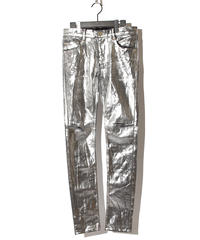ys Yuji SUGENO (イース ユウジ スゲノ) 210840503 / Silver foil Stretch denim 5P Skinny Denim