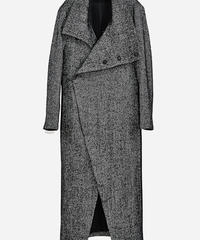 ys Yuji SUGENO (イース ユウジ スゲノ) 210331103-TWEED / Tweed changing high color wrap maxi coat