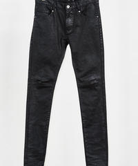 ys Yuji SUGENO (イース ユウジ スゲノ)  210340506-BLACK / Black Foil Twin power skinny denim pants