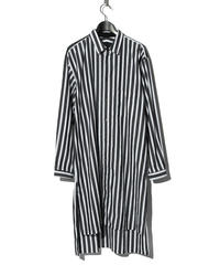 ys Yuji SUGENO (イース ユウジ スゲノ)  220230402 / Back print striped long shirt-WHITE