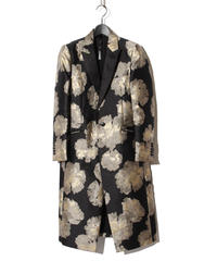 ys Yuji SUGENO (イース ユウジ スゲノ) 210831101 / Gold Flower Jacquard Chester Coat