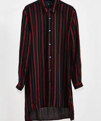 ys Yuji SUGENO (イース ユウジ スゲノ) 210330402 / Dobby Stripe Short Collar Semi-long Shirt