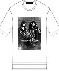 "FIFTY FIFTY (フィフティフィフティ)220110101 / ""SUGIZO×清春"" Special Session Hem Step Big Tee-WHITE"