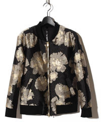 ys Yuji SUGENO (イース ユウジ スゲノ) 210830901 / Gold Flower Jacquard Zip Blouson
