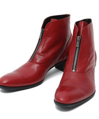 ys Yuji SUGENO (イース ユウジ スゲノ)  210854201 / Front Zip Heel Boots-RED