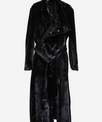 ys Yuji SUGENO (イース ユウジ スゲノ) 210331102-BLACK / Fur changing high color wrap maxi coat