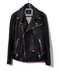 ys Yuji SUGENO (イース ユウジ スゲノ) 21045902A / Calfskin Belted Double Riders Jacket