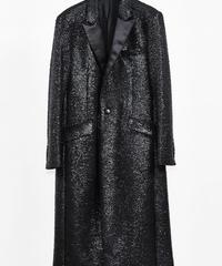 ys Yuji SUGENO (イース ユウジ スゲノ) 210231106-BLACK / Black foil tweed chester long coat