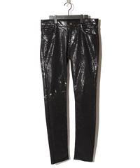 ys Yuji SUGENO (イース ユウジ スゲノ) 210840503-BLACK / Black foil Stretch denim 5P Skinny Denim