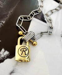 GLD×SIL Padlock Necklace