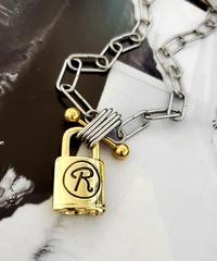 GLD×SIL Padlock Necklace
