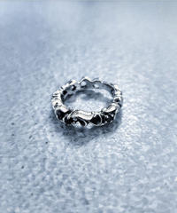 SILVER 925 3stone Ring(black)