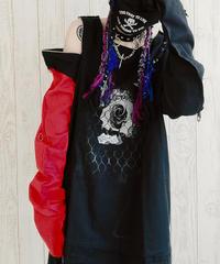 【Magdala】Gauze-RED-Sleeve Shirt