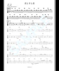 君と羊と青(4弦ベース)   / RADWIMPS【ベース・タブ譜】