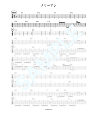 メリーアン / THE ALFEE【ベース・タブ譜】